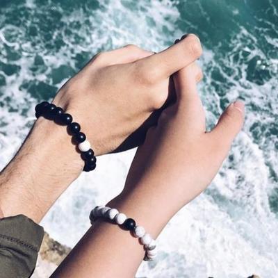 Bracelet amoureux couple distance